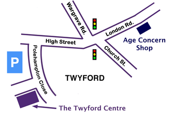 Map of Twyford